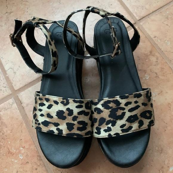 asos leopard print sandals